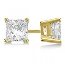 White Gold Four-Prong Diamond Stud Earrings