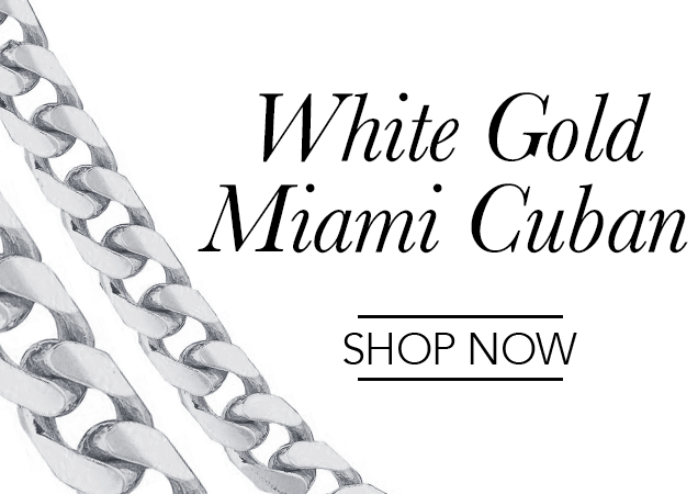 White Gold Miami Cuban Chains