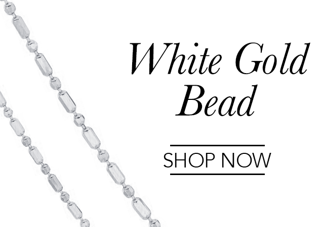 White Gold Bead Chains