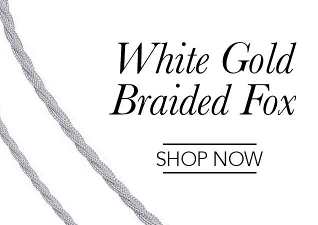 White Gold Braided Fox Chains