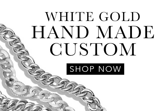 White Gold Handmade Custom Chains