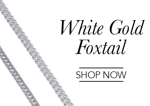 White Gold Foxtail Chains