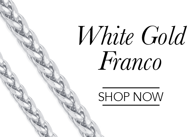 White Gold Franco Chains