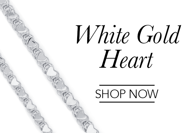 White Gold Heart Chains