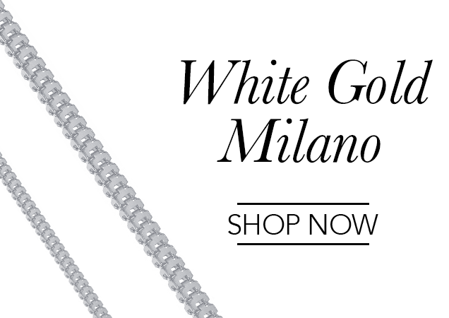 White Gold Milano Chains