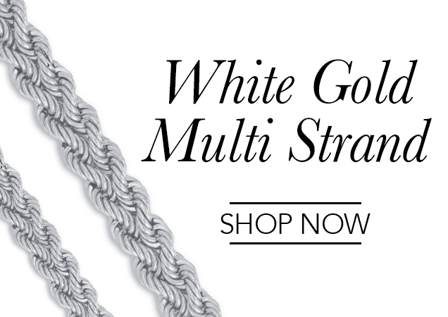 White Gold Multi Strand Chains
