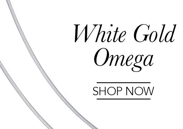 White Gold Omega Chains