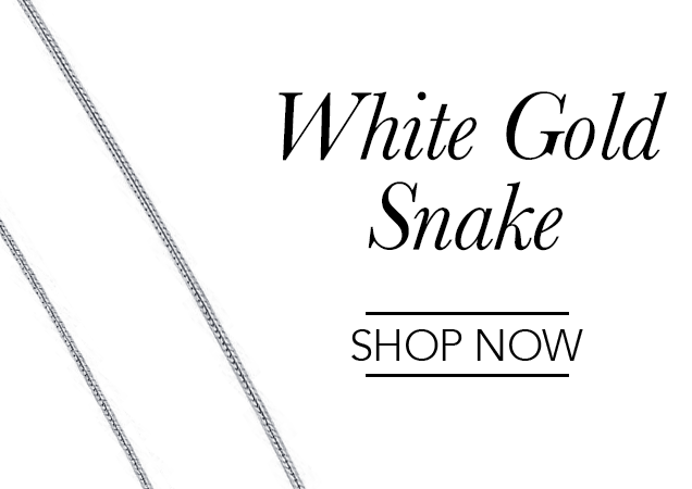 White Gold Snake Chains