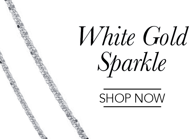 White Gold Sparkle Chains