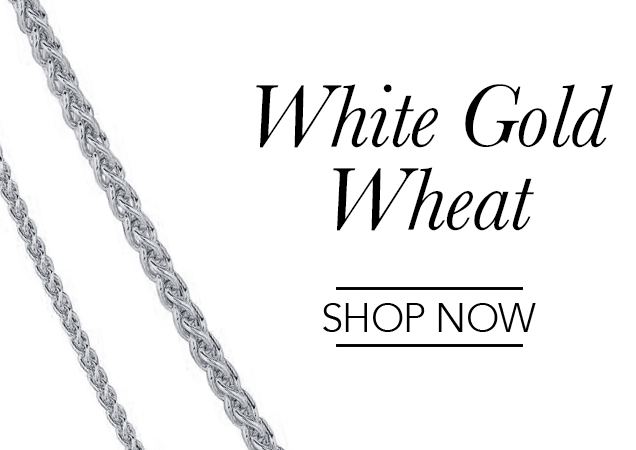 White Gold Wheat Chains