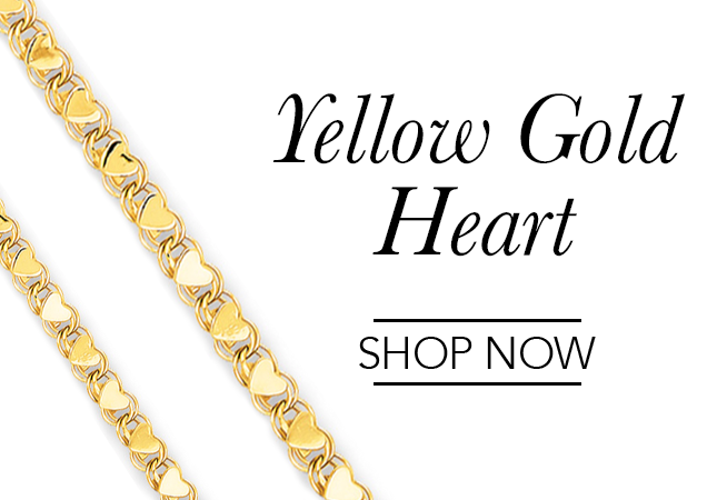 Yellow Gold Heart Chains