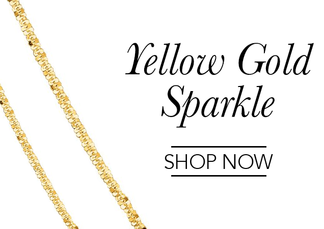 Yellow Gold Sparkle Chains