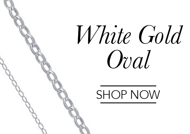 White Gold Oval Chains