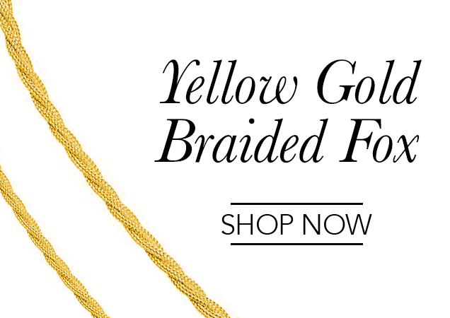 Yellow Gold Braided Fox Chains