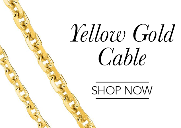 Yellow Gold Cable Chains